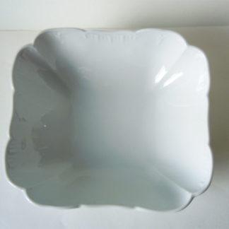 Weißporzellan Eckige Beilagenschüssel KPM Neuglatt weiß