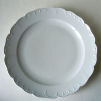 runde Platte Weissporzellan 32