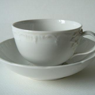 Weißporzellan Tasse Neuglatt