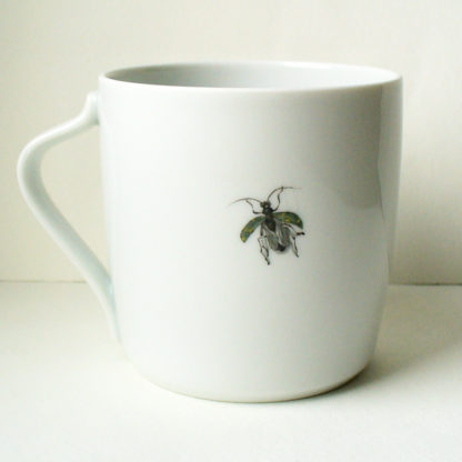 Tasse mit Tulpe Rückseite